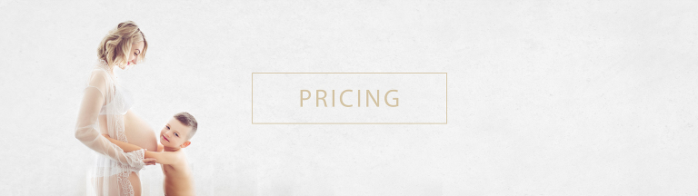 Young boy embracing pregnant mother, pricing header